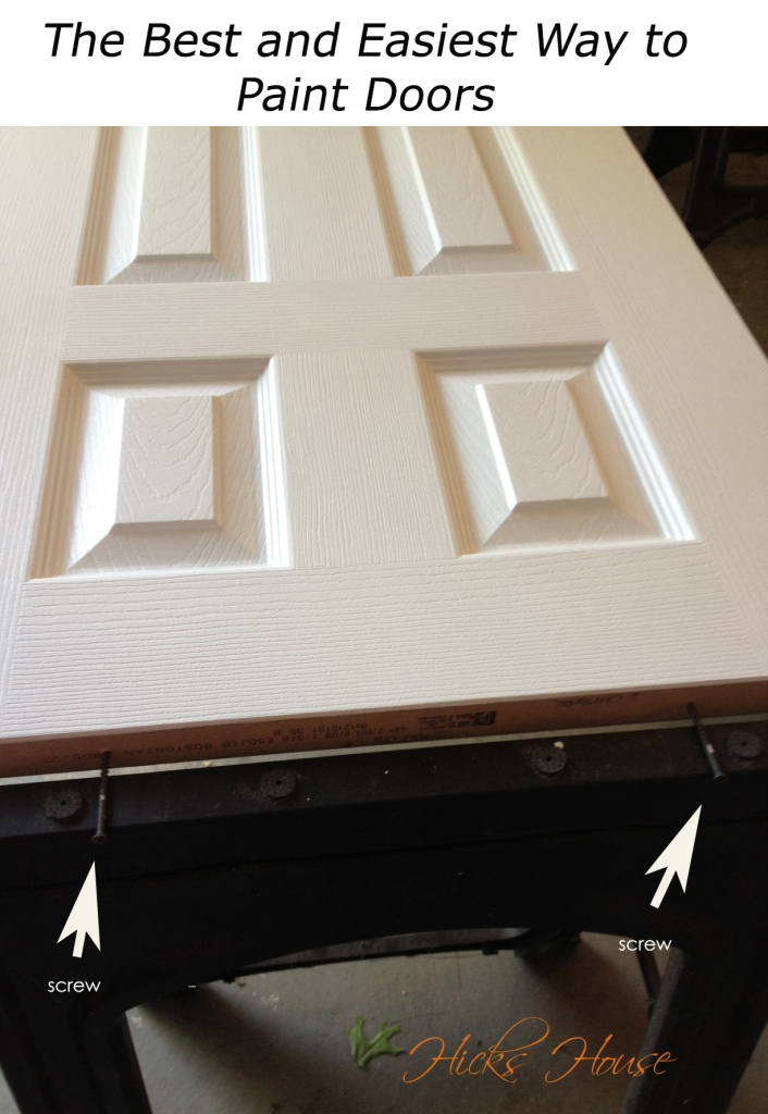 The Best and Easiest Way to Paint Doors   Hicks House