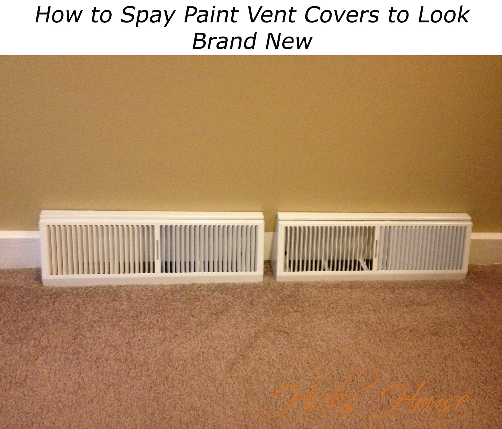 Spray Painting Vent Covers
