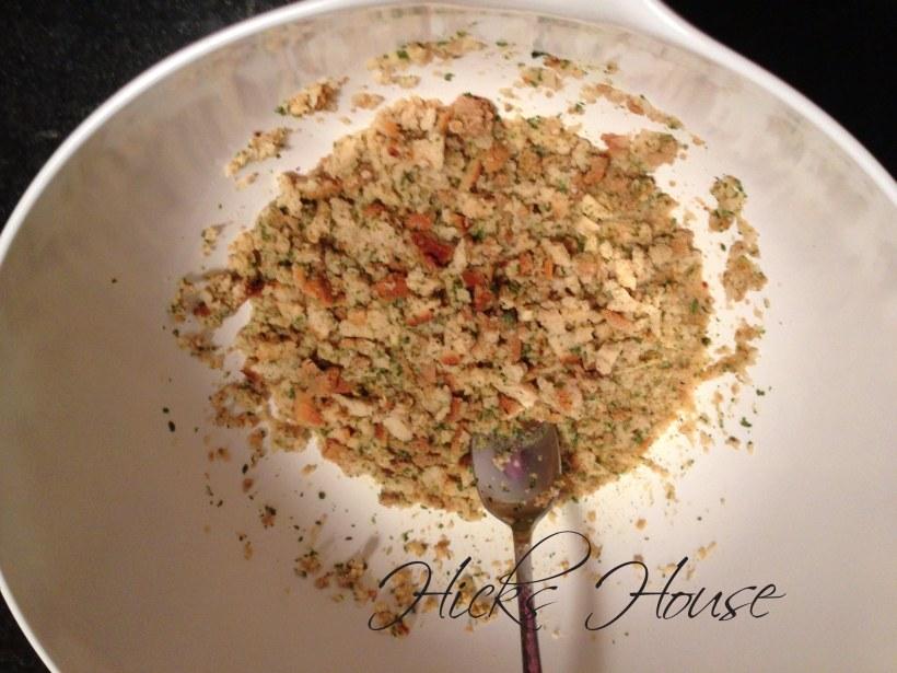 Mix stuffing & broth