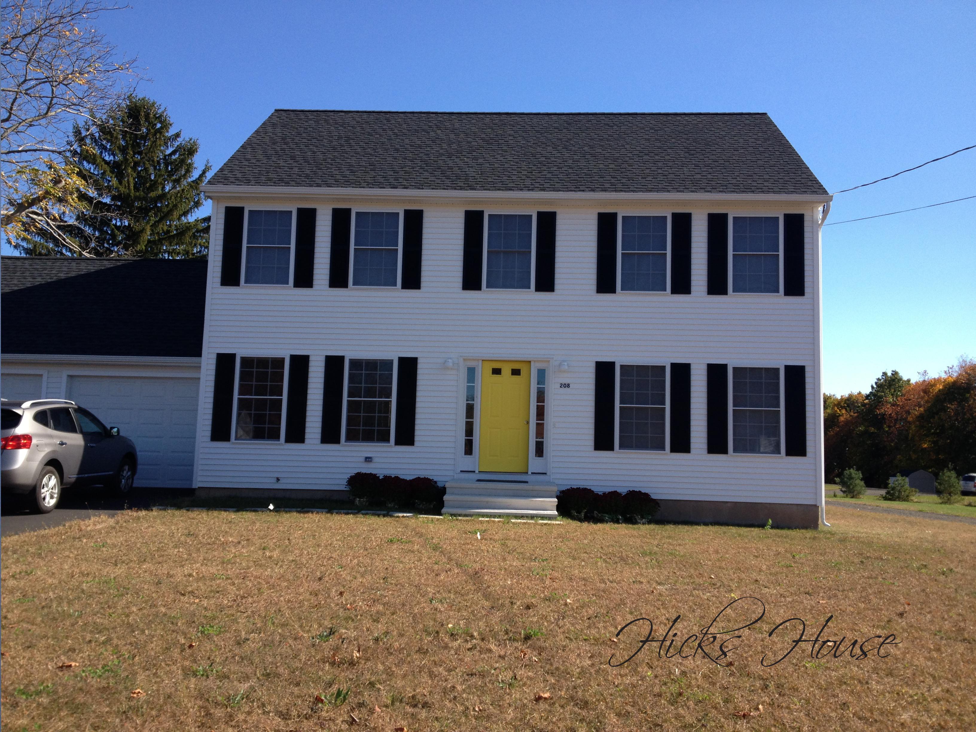 Front door hicks house for Front door yellow house