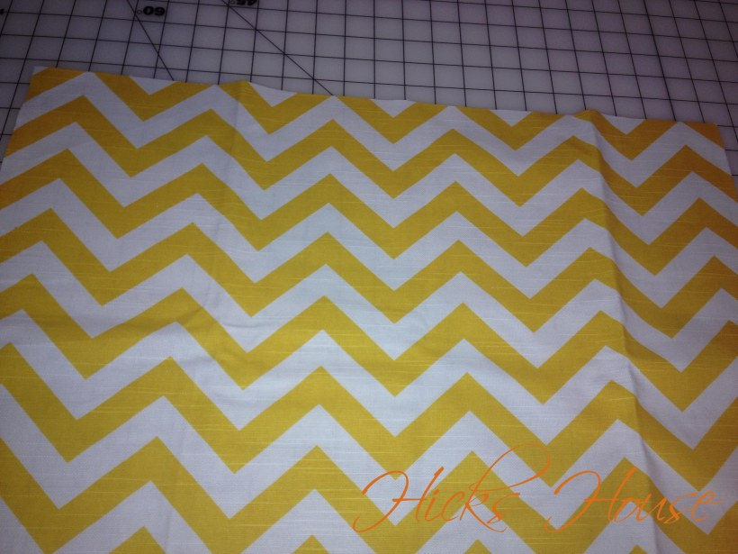 one cut the chevrons are even