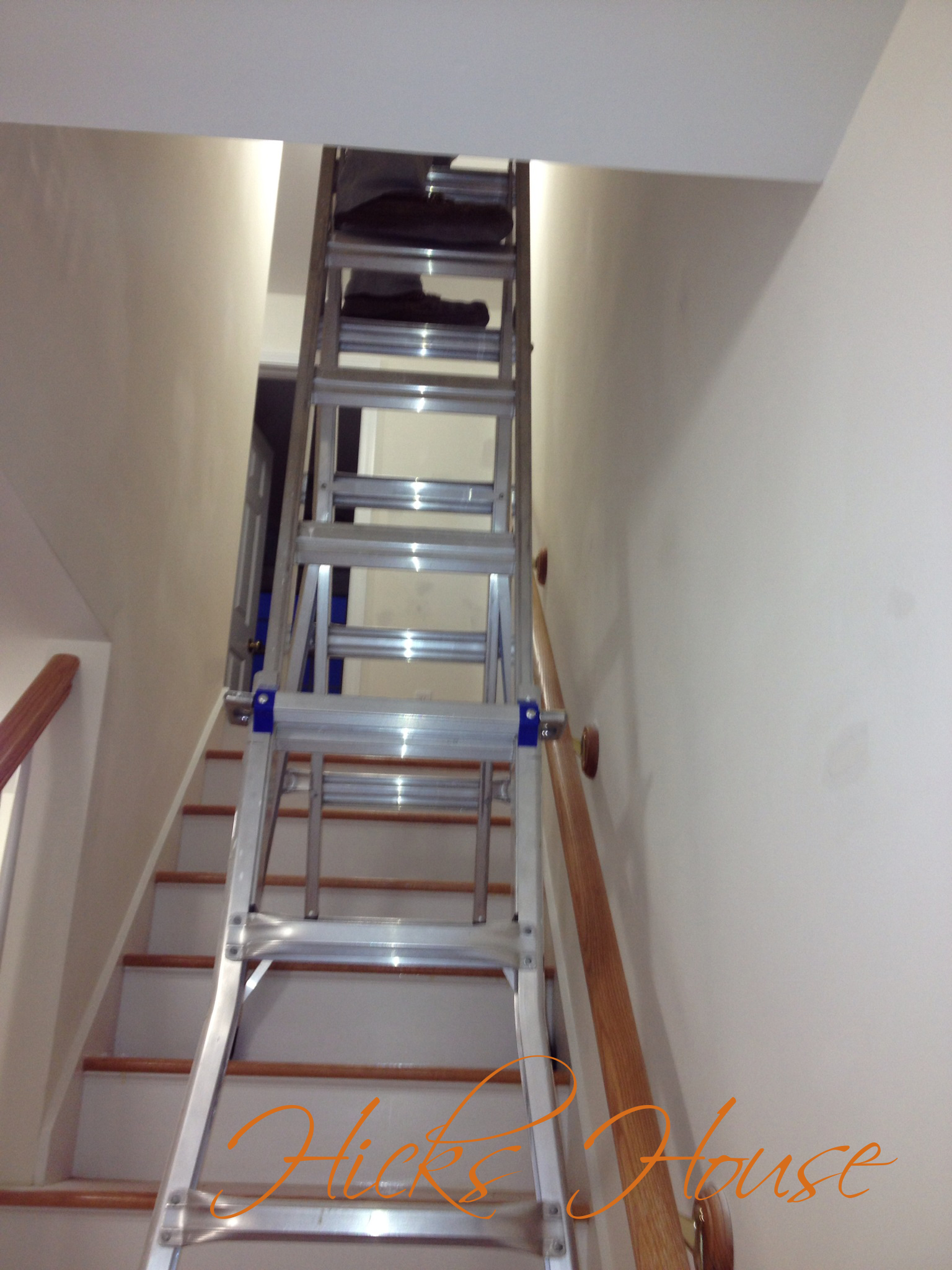 Painting hicks house - Ladders for decorating stairs ...