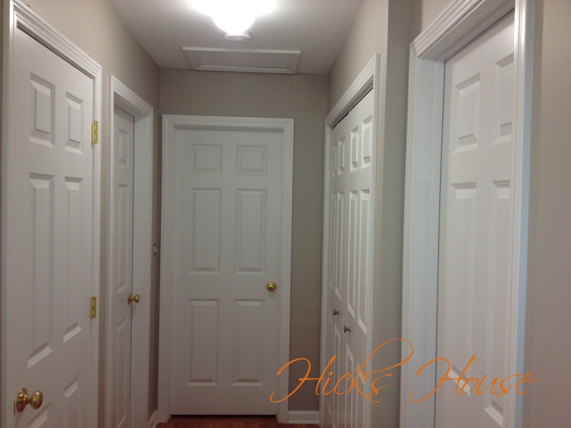 hallway painted 4