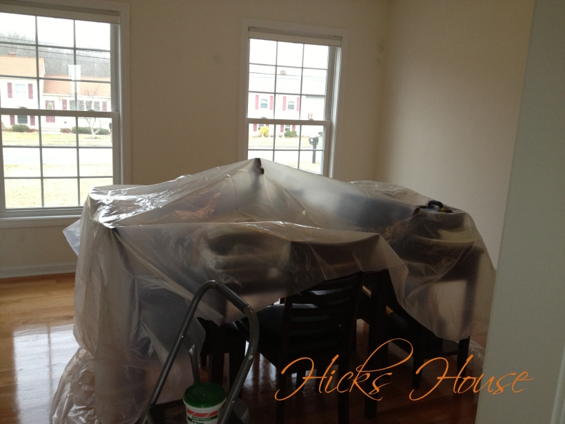paint prep dining room 1