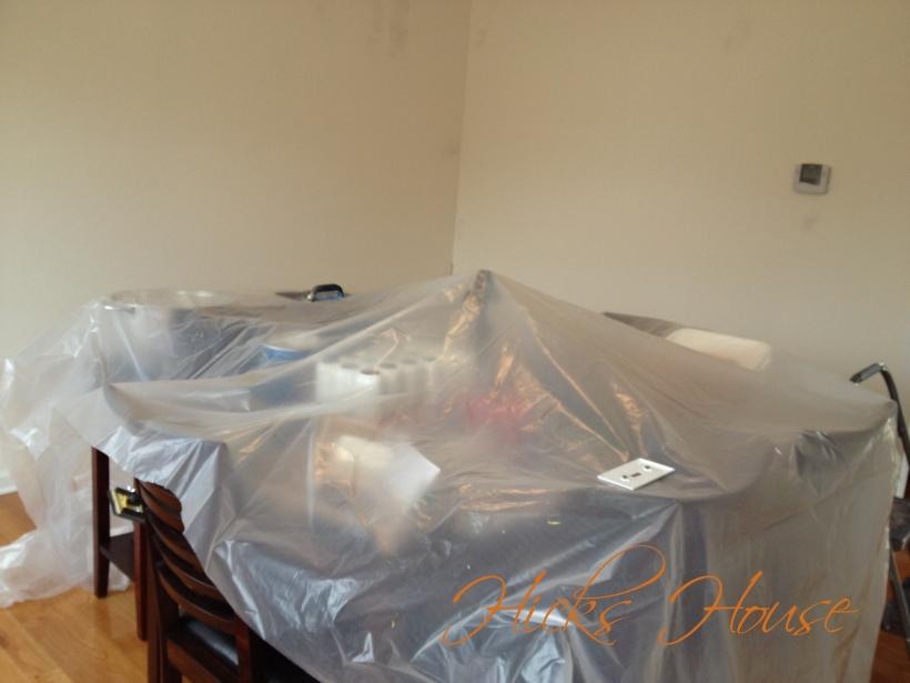 paint prep dining room 2
