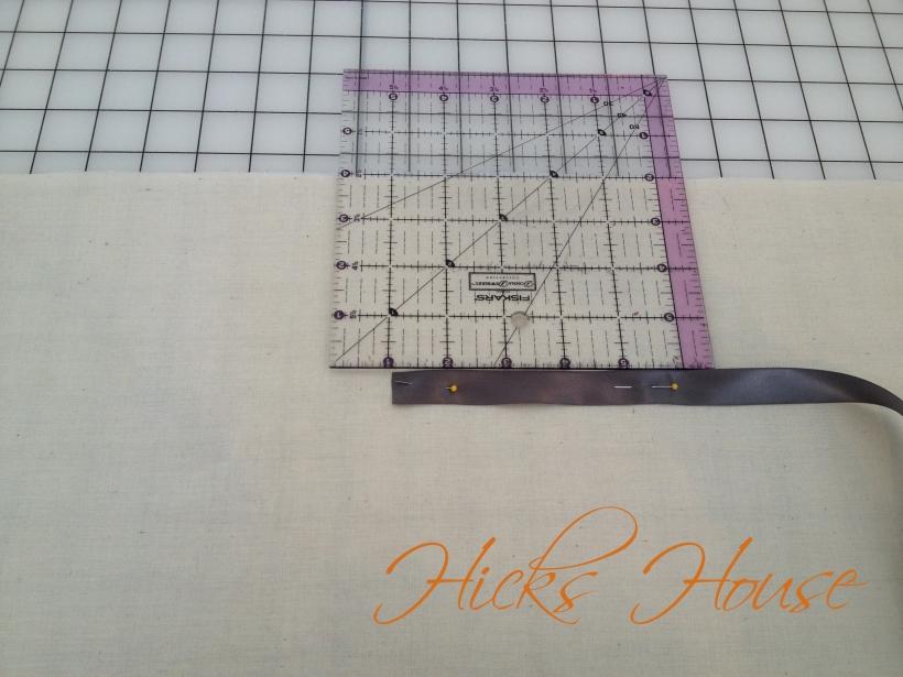 Hicks House | Ribbon Embossed Pillow
