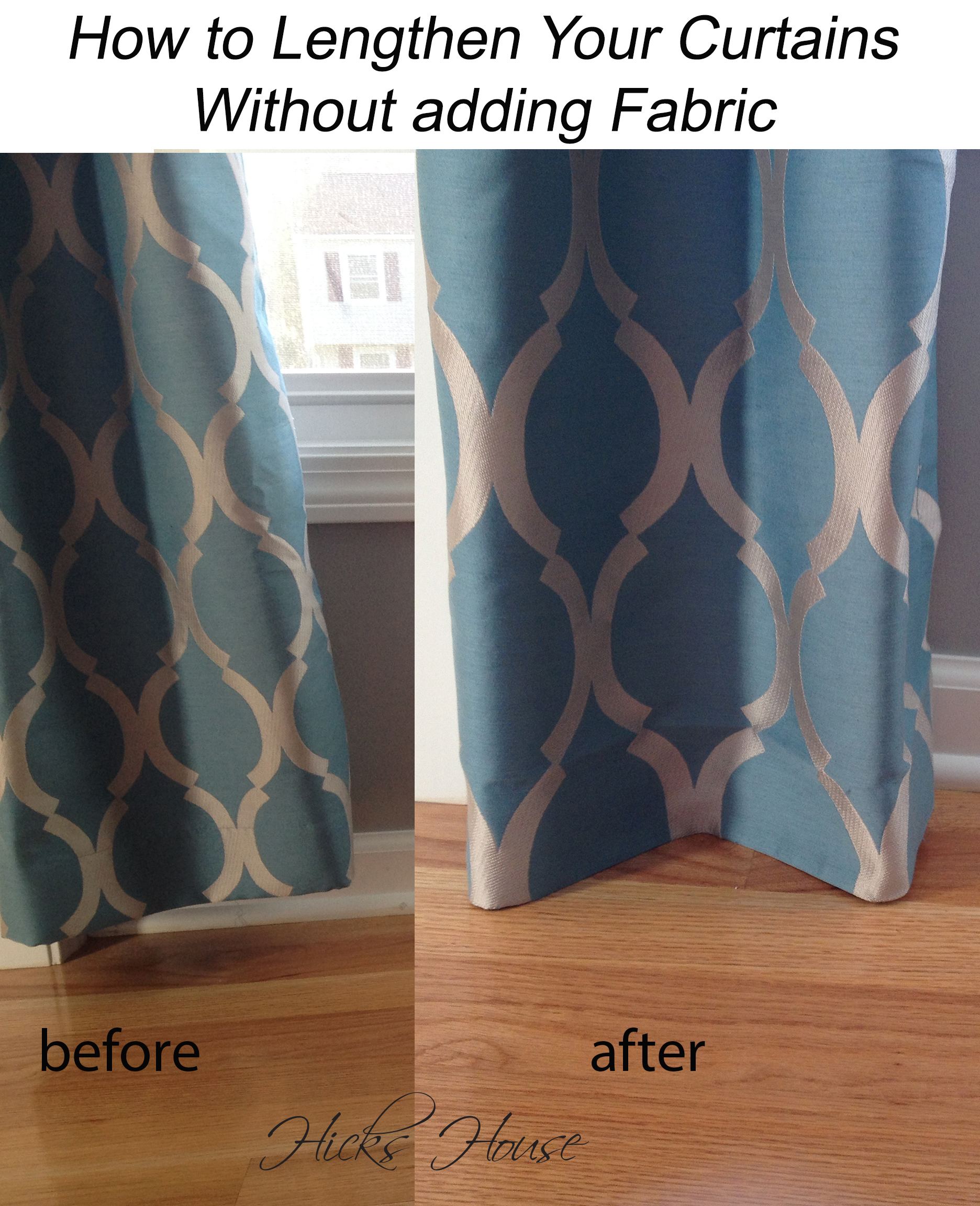 How to Lenthen Curtain Without adding Fabric