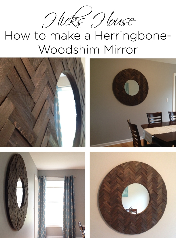 Herringbone Woodshim Mirror | Hicks House