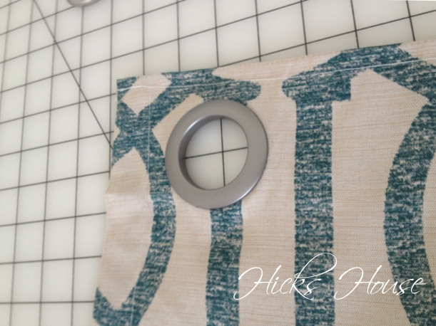 Adding Grommets to Curtains | Hicks House