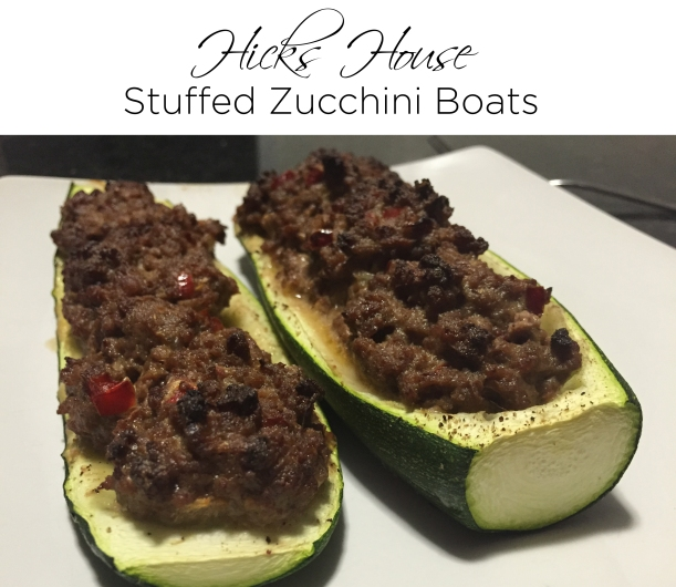 Hicks House | Stuffed Zucchini Boats