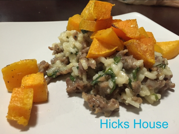 Butternut Squash, Sausage and Kale Risotto | Hicks House