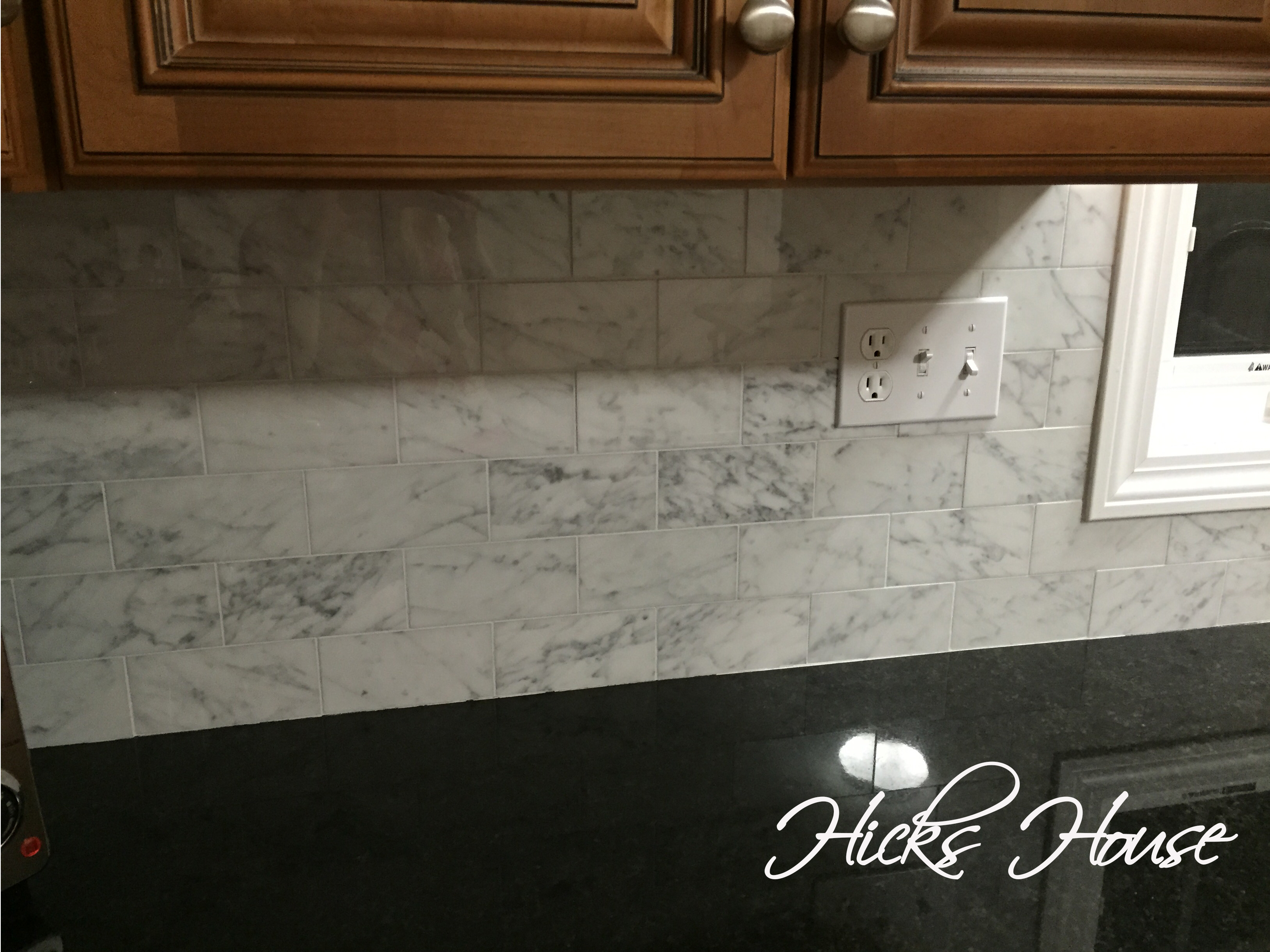 Carrara Marble Backsplash Hicks House